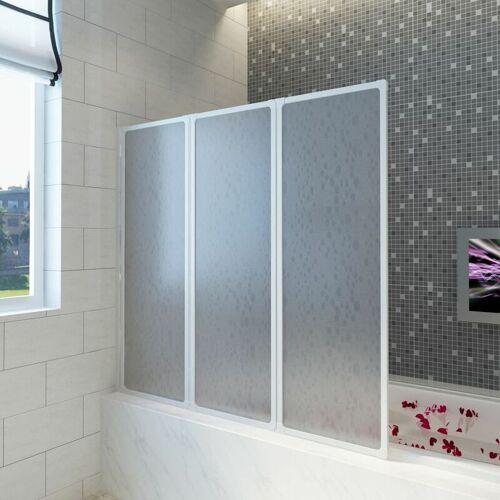 ZQYRLAR Badewannen Faltwand Duschabtrennung 141 x 132 cm