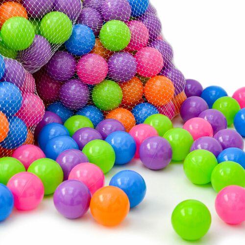 Littletom - 800 Bällebadbälle 6 cm Bunte Bälle für Bällebad Spielbälle