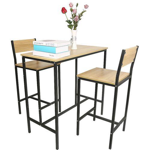 BATHRINS ®Esstisch x 1 und Stuhl x 2/Stuhl mit hoher