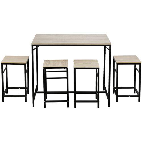 BATHRINS ®Tische x 1 und Stühle x 4,Esstisch und Stuhl im