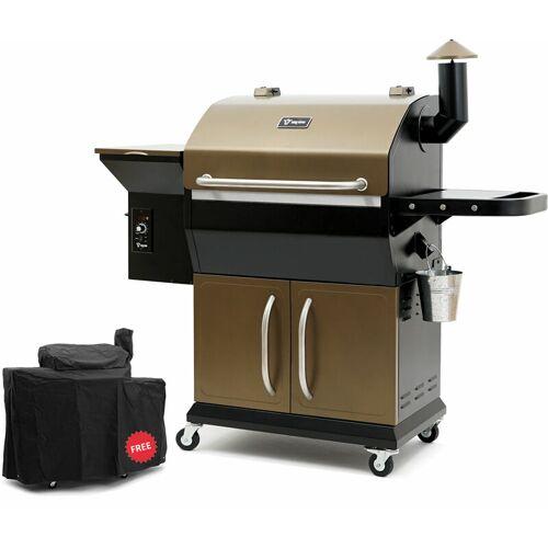BBQ-TORO Pellet Smoker Grill PG2   Schwarz - Gold   Pelletgrill - Bbq-toro