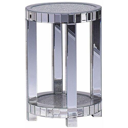 Beliani - Beistelltisch Silber Spiegeleffekt 40 x 40 cm Multifunktional