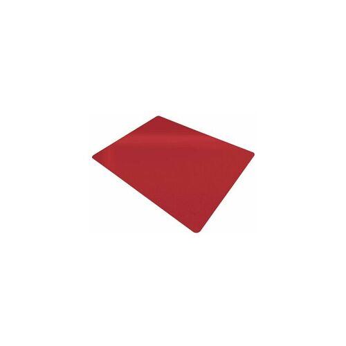 CERTEO Bodenschutzmatte   BxL 120 x 150 cm   PP   Hart- und Teppichboden   Rot