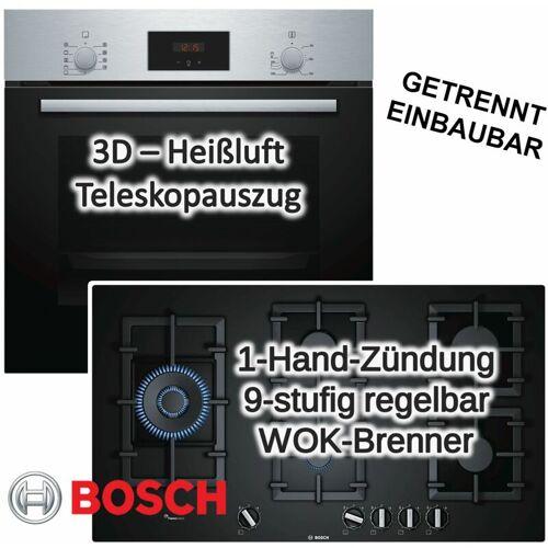 Bosch Einbau-Backofen Einbauherd HBF114BSO Edelstahl Serie 2 mit