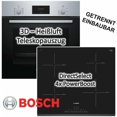 Bosch HERDSET INDUKTION AUTARK 3D Heißluft Backofen + Induktions