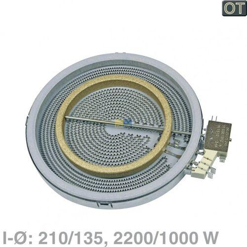 Bosch Siemens Strahlheizkörper, Zweikreis-Heizkörper 2200/1000 Watt Ego