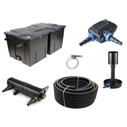 Aquaristikwelt24 - Kammerfilter Set CBF 350 B mit 40W Eco Pumpe 10m