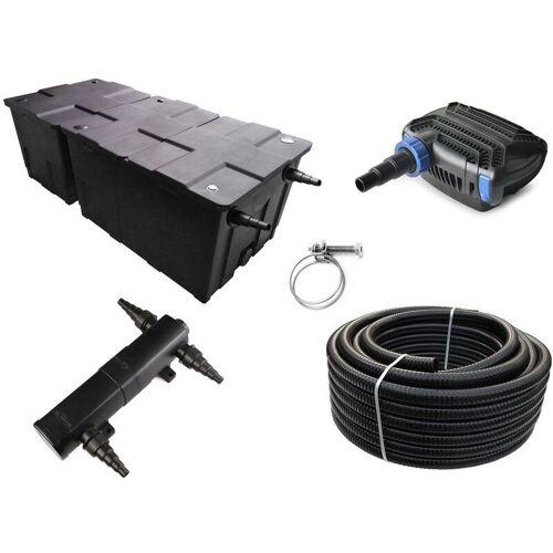Aquaristikwelt24 - Kammerfilter Set CBF 550 B mit 30W Eco Pumpe 10m
