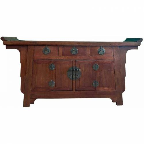 Asienlifestyle - Chinesisches Sideboard (170cm) Ulmenholz Kommode