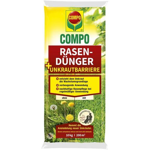 COMPO Rasendünger + Unkrautbarriere 10 kg für 200 m² - Compo