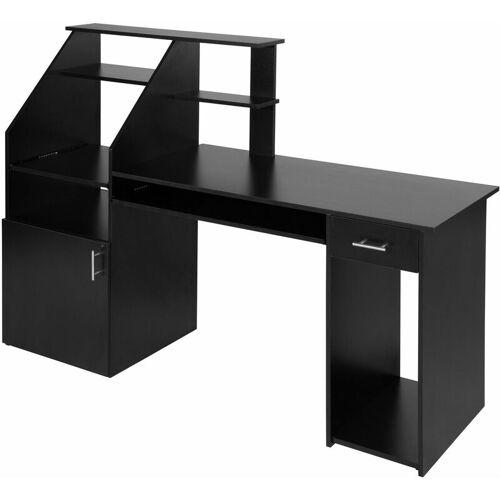 Tectake - Computertisch 164,5 x 55 x 114,5cm - Bürotisch,