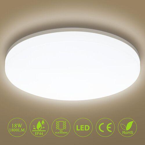 OEEGOO Deckenleuchte LED Deckenlampe 18W 1800LM Ø28cm IP44 Badlampe 4000K