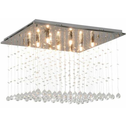 Zqyrlar - Deckenleuchte mit Kristallperlen Silbern Cubic G9