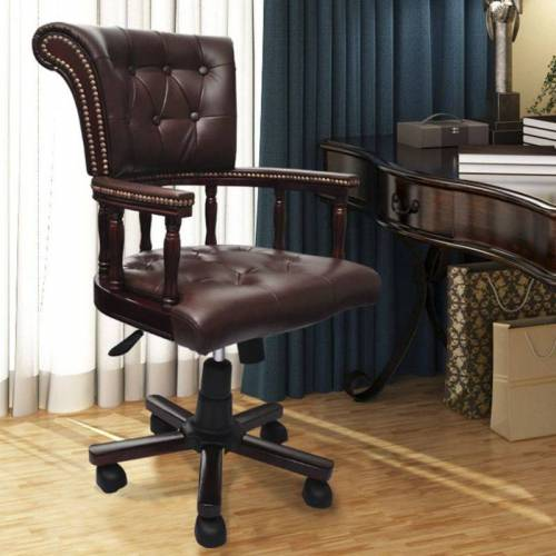 HOMMOO Drehstuhl Bürostuhl chesterfield Ledermix