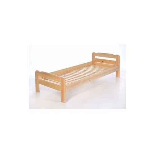 ACERTO® Einzelbett mit Lattenrost aus Kiefer massiv - 80x200 cm Massives