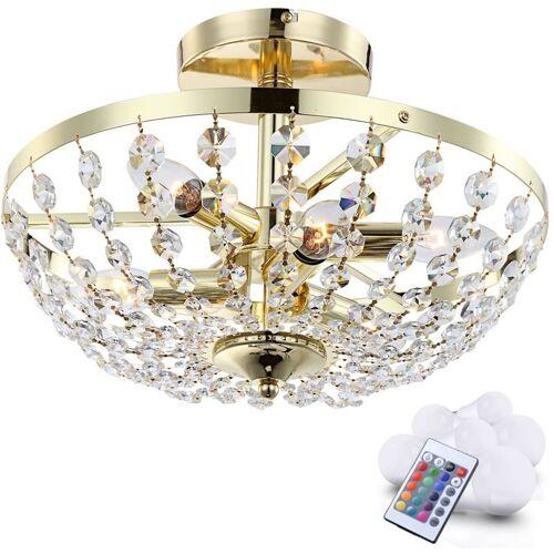 ETC-SHOP 21 Watt RGB LED Decken Leuchte Kristall Luster Farbwechsel Beleuchtung