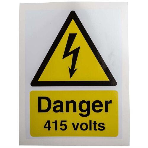 RS PRO Sicherheitszeichen, Englisch, Schwarz/Weiß/Gelb, Gefahr: