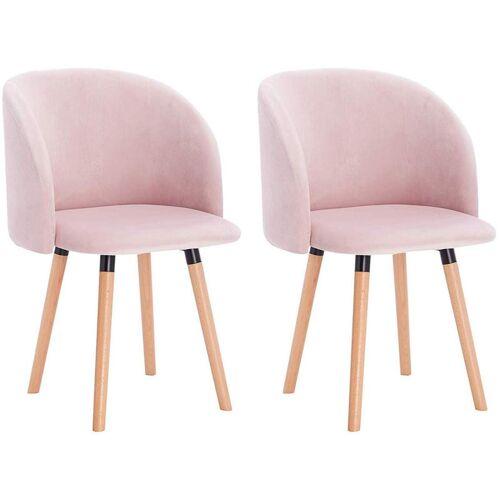 WOLTU Esszimmerstühle aus Samt Modell Ann rosa - WOLTU