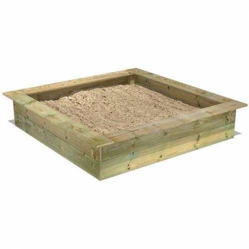 Fatmoose PowerPit 145 x 145 cm Sandkasten Sandkiste mit Sitzbank - Fatmoose