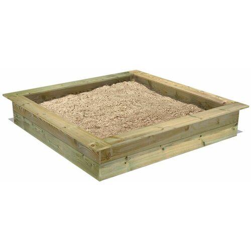 Fatmoose PowerPit 165 x 165 cm Sandkasten Sandkiste mit Sitzbank - Fatmoose