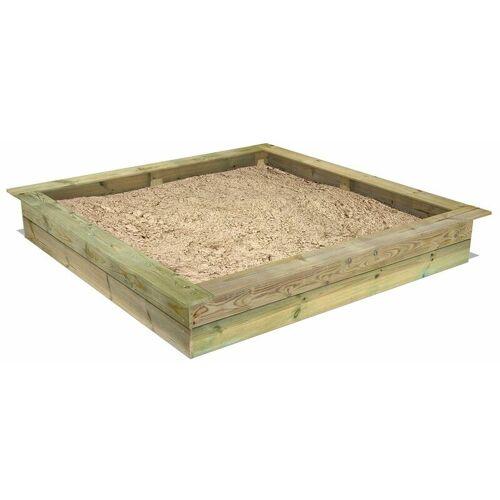 Fatmoose PowerPit 195 x 195 cm Sandkasten Sandkiste mit Sitzbank - Fatmoose