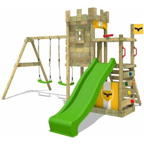 FATMOOSE Spielturm Ritterburg BoldBaron mit Schaukel & apfelgrüner