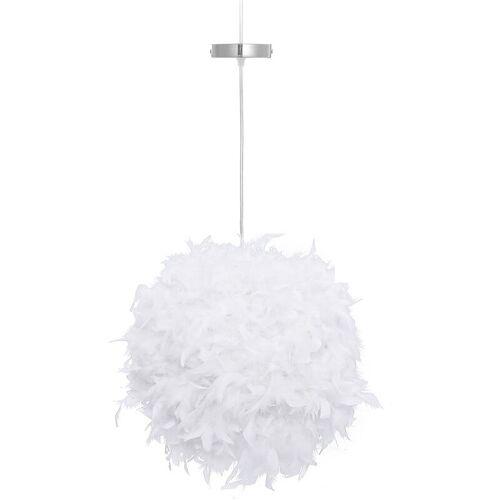 Kingso - Feder Lampenschirm + Lampenschirmhalter für E27 Lampen