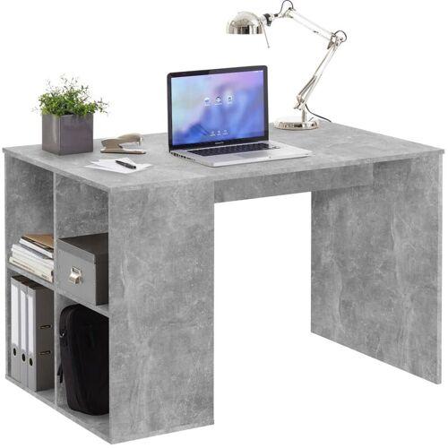 Zqyrlar - FMD Schreibtisch mit Regal 117×73×75 cm Betonoptik