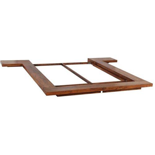Zqyrlar - Futon-Bettgestell Japanischer Stil Massivholz 160 x 200m
