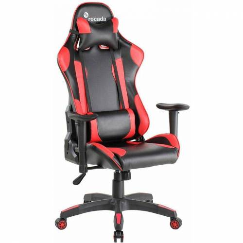 ROCADA Gamechair Pro Rot Ergoline - Wippmechanik - ergonomisch & robust