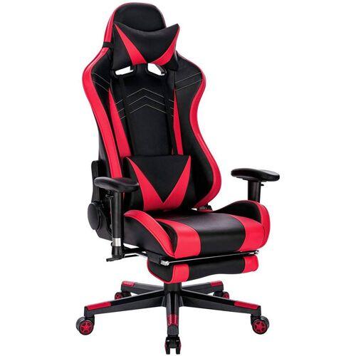 WOLTU Gaming Stuhl Racing Stuhl aus Kunstleder Hensel rot - WOLTU