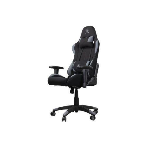 KINDERMOEBEL-24SHOP Gaming Stuhl Rallye schwarz inkl. Nackenkissen und Rückenkissen +