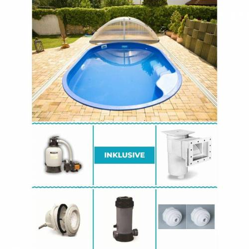 Poolprofi Nordhessen - GFK Pool Set Olymp 3,00m x 4,50m x 1,20m