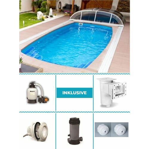 Poolprofi Nordhessen - GFK Pool Set Orion 3,50m x 7,50m x 1,50m