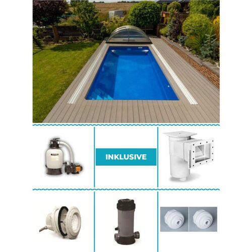 Poolprofi Nordhessen - GFK Pool Set Pegas 3,10m x 6,20m x 1,40m