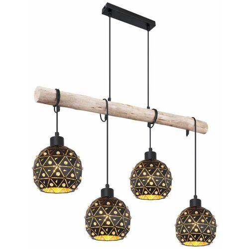 Etc-shop - Hängeleuchte Esstischlampe Holzbalken Pendelleuchte Holz