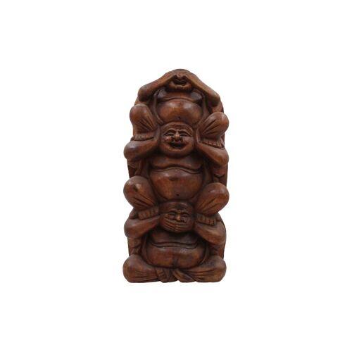 ASIENLIFESTYLE Happy Buddha - Nichts sehen, Nichts hören, Nichts sagen