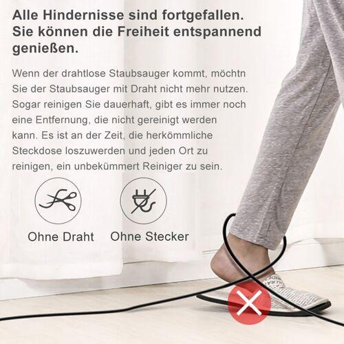 Hengda Akku Staubsauger 2-in-1 Kabelloser HandstaubsaugerFade-freie