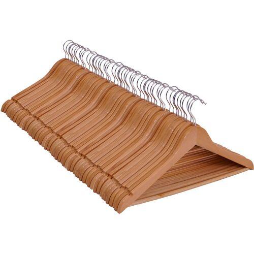 SPETEBO 008.0 Holz Kleiderbügel - 50 Stück (5x 10er Kleiderbügel-Set) - Farbe: