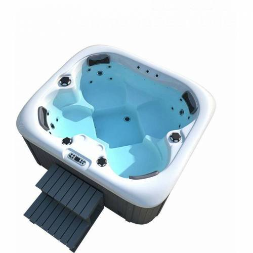 HOME DELUXE Outdoor Whirlpool Sea Star plus Treppe und Thermoabdeckung   Jacuzzi,
