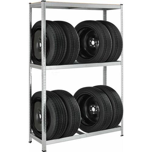 JUSKYS Metall Reifenregal Drive   8 Reifen   180 x 117 x 40 cm   1 Boden aus