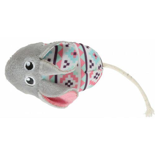ZOLUX Kali graue Maus. Größe 14 x 5 cm. mit Katzenminze. Katzenspielzeug