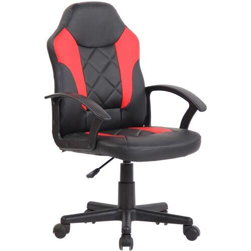 CLP Kinder Bürostuhl Tafo-schwarz/rot