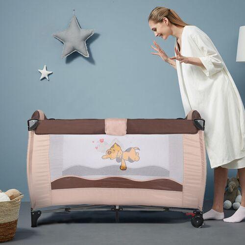 WYCTIN Kinderreisebett Babybett Baby Reisebett Kinderbett Klappbett mit