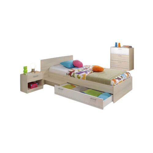 PARISOT Kinderzimmer Charly 3-tlg Bett 90*200 cm + Kommode + Nachtkommode beige