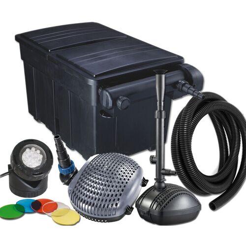 JEBAO Kit Teichfilter UBF 25000, UV-C 36 W, Pumpe XOE 8000, Schlauch 32 mm,