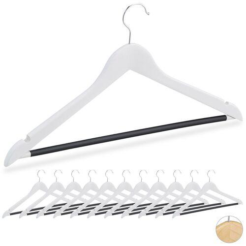 RELAXDAYS Kleiderbügel, Set, 12 Bügel, Holz, für Hemden, Röcke, Hosen, gummierte