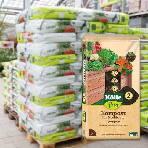 Kölle Bio Hochbeet-Kompost 45 Sack à 40 l, Palettenware ohne