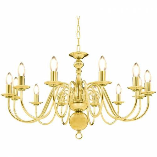 ZQYRLAR Kronleuchter Golden 12 x E14-Glühbirnen