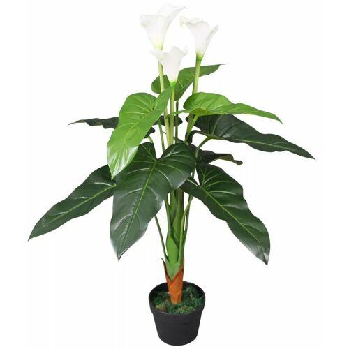 ZQYRLAR Künstliche Calla-Lilie mit Topf 85 cm Weiß